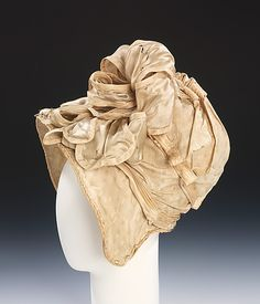 Silk bonnet 1810, American - in the Metropolitan Museum of Art costume collections.
