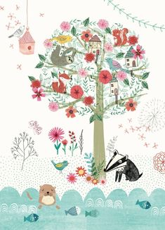 Rebecca Jones 'A4 Poster Magical Tree'