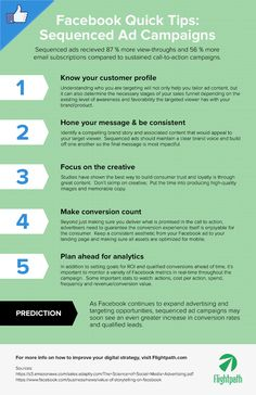 5 Tips For Creating Sequenced Ad Campaigns on #Facebook - #infographic #socialmedia