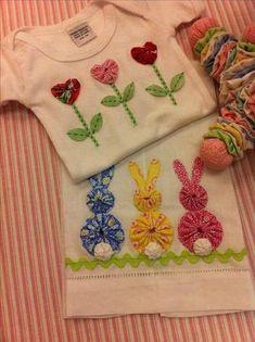 como fazer fuxico roupa de bebe