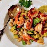 Summer Shrimp Salad with white beans