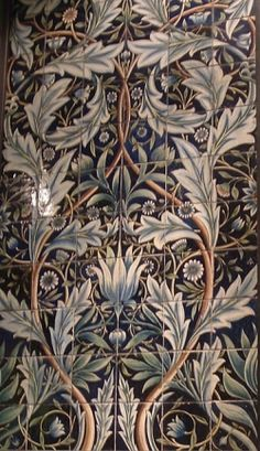 William Morris Tiles in Arts and Crafts Style