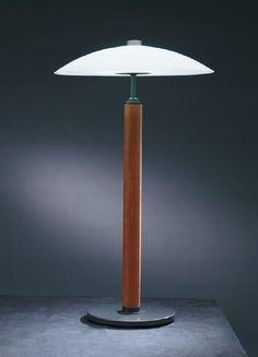 traditional table lamp (glass) KORNETT by Torbjörn Eliasson  BLOND