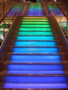 colorful stairs - Google Search