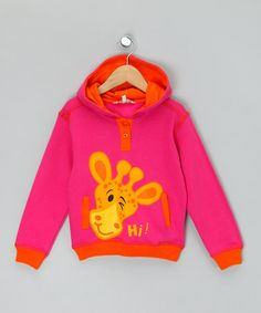 Take a look at this Pink Giraffe Hoodie by WW Group on #zulily today!