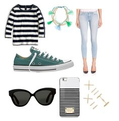 """Untitled #244"" by balletdog on Polyvore featuring J.Crew, Lonna & Lilly, J Brand, Converse, Forever 21, Michael Kors and Linda Farrow"