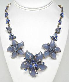 Oscar De La Renta Vintage Couture Runway Floral Necklace 1990