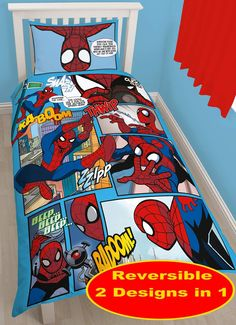 whooooshh from £41.95 down to 13.95, that's what I call a price drop Spiderman Thwip Single Panel Bedding Set