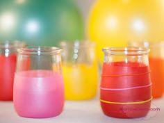 portavelas para fiestas con globos..Son muy sencillos, divertidos y puedes hacerlos con los peques de la familia.
