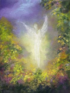 BLESSING ANGEL  Art Print Framed and Signed by MarinaPetroFineArt, $15.99