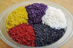 The five-colored sticky rice of Zhuang people