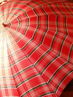 Vintage tartan umbrella ~ fun!  I had one of these... can't find it anywhere
