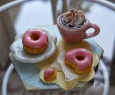 El arte de Angelina: Hot chocolate and pink donut 1/12th tutorial