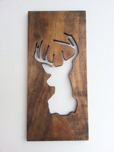 Taxidermy, Buck Head Wall Art, Modern Wooden Home Decor