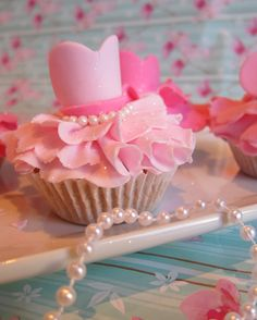 Ballet dress cupcakes... Can't have a birthday cake without matching cupcakes
