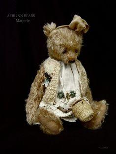"Marjorie, One Of a Kind 9 1/4"" Girly Mohair Artist Bear from Aerlinn Bears"