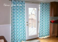 Moroccan Drapes- Pair of Drapery Panels- Premier Prints Fynn Curtain- 25 or 50W x 63 84 96 108 120 inch Quatrefoil Coastal Blue Window