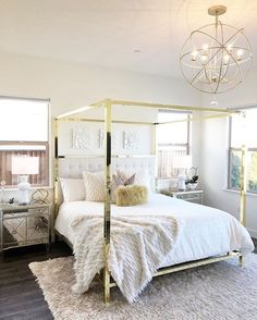 Takes Her Guest Bedroom To New Heights With A Mix Of Reflective Gold And  Natural Accents. Tap Link In Our Bio To See All The Z Gallerie Pieces  Featured!