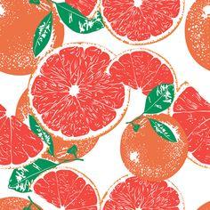 Fruit Pattern. Grapefruit. — Designspiration