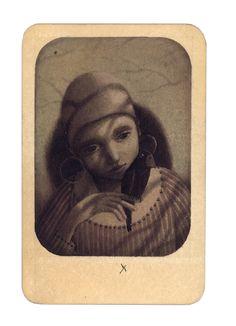 Rébecca Dautremer - Carte Fillette de Noé X   Oeuvres   Galerie Robillard