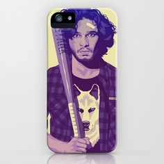 GAME OF THRONES 80/90s ERA CHARACTERS - Jon Snow iPhone & iPod Case (If I didn't already have a perfect case)