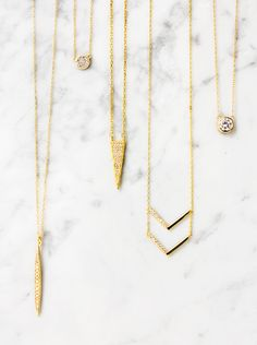 14K Gold Handmade necklaces by AMY O. Jewelry