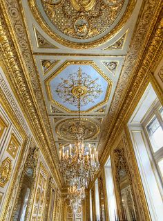 Details, details...Ceiling at L'Hôtel de la Marine, Paris, France, photo by Claude ROZIER via Flickr.
