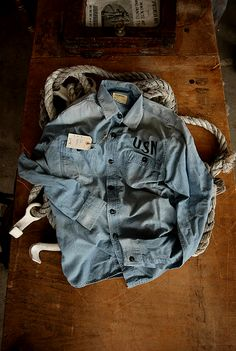 I love an old denim or chambray shirt for a man. They're great for leisurely weekends or you can add a sweater or layers to them and it becomes a great fashion piece. Love!