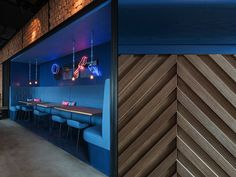 The Cut Rooftop, a cocktail bar/restaurant by NE-ON, Shanghai – China » Retail Design Blog #counter #detail
