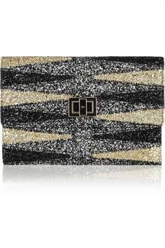 Anya Hindmarch Valorie glitter-finished clutch #NowTrending #CocktailHour