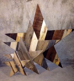 Rustic Wooden Star - Reclaimed Pallet Wood