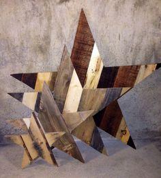 Rustic Wooden Star - Reclaimed Pallet Wood