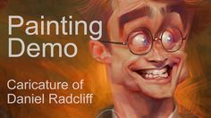 Painting Process : Caricature of Daniel Radcliff as Harry Potter
