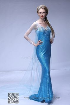New Disney Frozen Princess Elsau0027s Dress Cosplay costume Snow Queen Elsa | Anime halloween Frozen costume and Elsa cosplay  sc 1 st  Pinterest : disney frozen costume for adults  - Germanpascual.Com