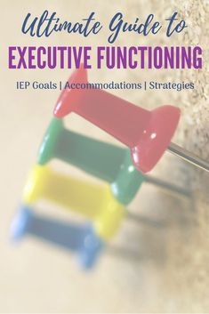 Everything Executive Functioning! This should have everything you need for your child's Executive Functioning issues and their IEP. In here you will find Executive Functioning IEP Goals, IEP accommodations, apps that address Executive Functioning deficits and strategies for including EF in your IEP. #executivefunction #ADHD #DontIEPalone #IEPadvice #EF