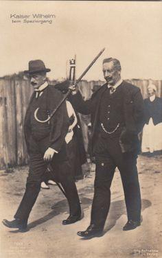 Kaiser Wilhelm II König v Preußen im ndl Exil Amerongen m Baron Ilsemann 1920