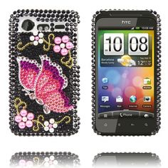 """Paris (Pink Sommerfugl) HTC Incredible S """"Bling-Bling"""" Cover"""