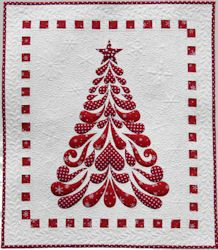 """Christmas Quilt Patterns   Celebrate Christmas with this 24"""" x 28"""" heirloom quilt. Pattern ..."""