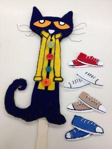Pete the Cat felt stick puppet
