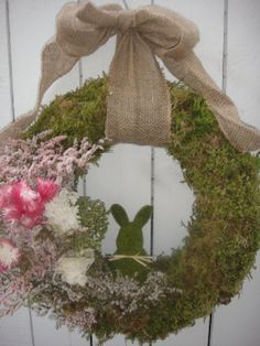 Easter Bunny Wreath Some Bunny Loves You Wreath Bunny Wreath Moss Wreath Spring…