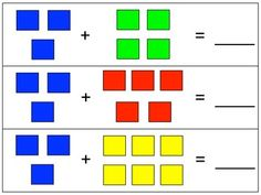 Linking cube addition mats - a simple, hands-on center!