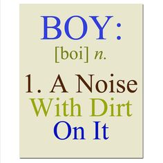 Boy  A Noise With Dirt On It  8x10 Quote Print  Modern by Tessyla, $20.00
