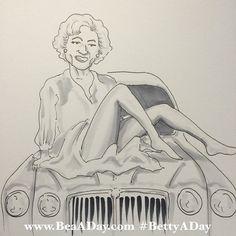 "#BettyADay 2/365 ""Betty Whitesnake"" from my daily Betty White art project"