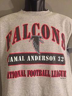2b38af03 Vtg 1999 Jamal Anderson #32 Atlanta Falcons NFL Football Mens Medium Gray  Shirt
