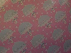 """Vintage Department Store Pink Baby Shower Wrapping Paper 18"""" Wide x 3 Yards   eBay"""