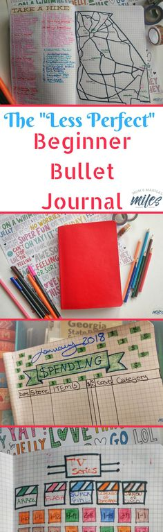 Curious about bullet journalling but intimidated by all the gorgeous pictures out there? I was, too. I threw off the perfectionism and I love my beginner bullet journal! #BuJo #BulletJournal #BeginnerBulletJournal #arts&craftsideas