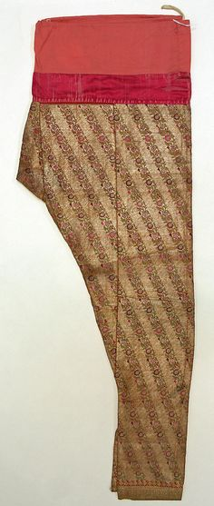 shalwar (churidar), India, late 19th century - early 20th century, silk and cotton, metmuseum