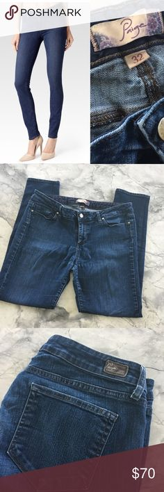 Paige Premium Denim Jeans Skinny Paige premium denim jeans. Super soft feel with comfortable mid rise fit. Great condition. Smoke free home. Paige Jeans Jeans Skinny