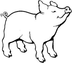 image result for pig cartoon black and white