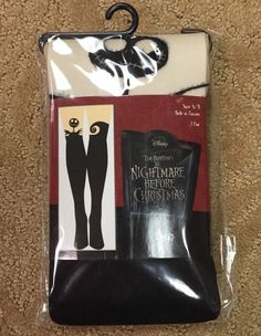 Disney The Nightmare Before Christmas Silhouette Tights Size s M Cute Sexy NISP | eBay